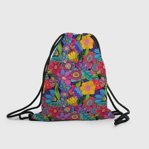 Рюкзак-мешок 3D Яркие цветы Фото 01