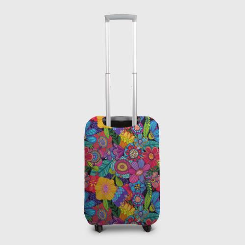 Чехол для чемодана 3D  Фото 02, Яркие цветы