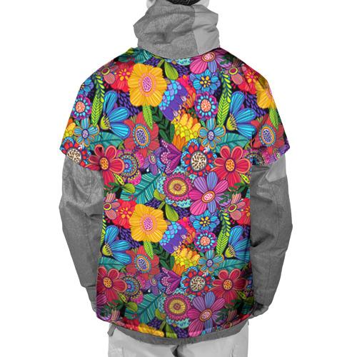 Накидка на куртку 3D Яркие цветы Фото 01