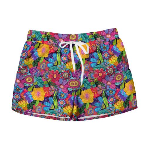 Женские шорты 3D Яркие цветы
