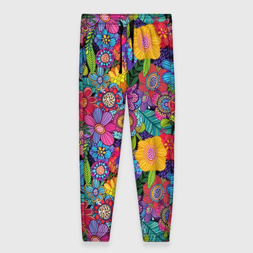 Женские брюки 3D Яркие цветы Фото 01