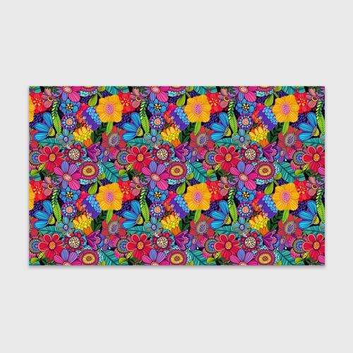 Бумага для упаковки 3D Яркие цветы Фото 01