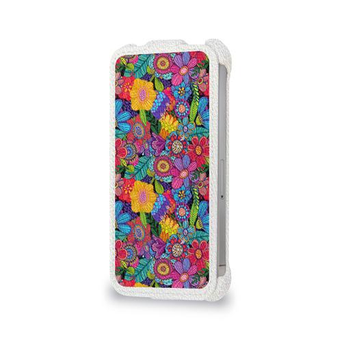 Чехол для Apple iPhone 4/4S flip  Фото 06, Яркие цветы