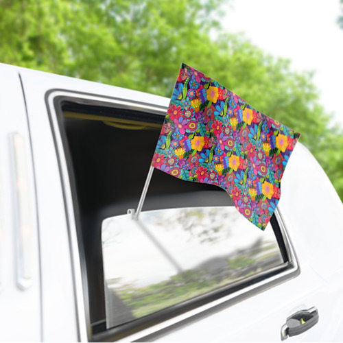 Флаг для автомобиля Яркие цветы Фото 01