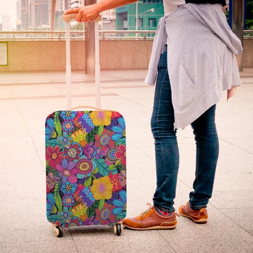 Чехол для чемодана 3D  Фото 04, Яркие цветы