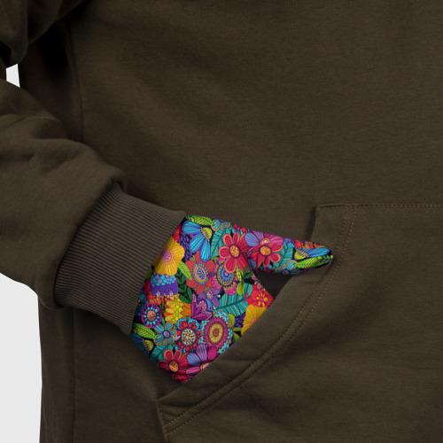 Перчатки 3D Яркие цветы Фото 01