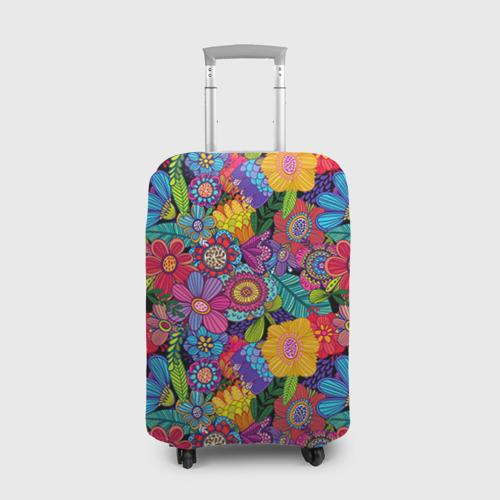 Чехол для чемодана 3D  Фото 01, Яркие цветы