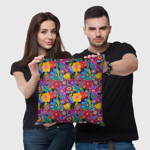 Подушка 3D Яркие цветы Фото 01