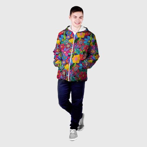 Мужская куртка 3D  Фото 03, Яркие цветы