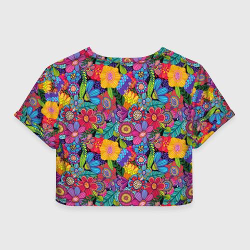Женская футболка Cropp-top Яркие цветы Фото 01