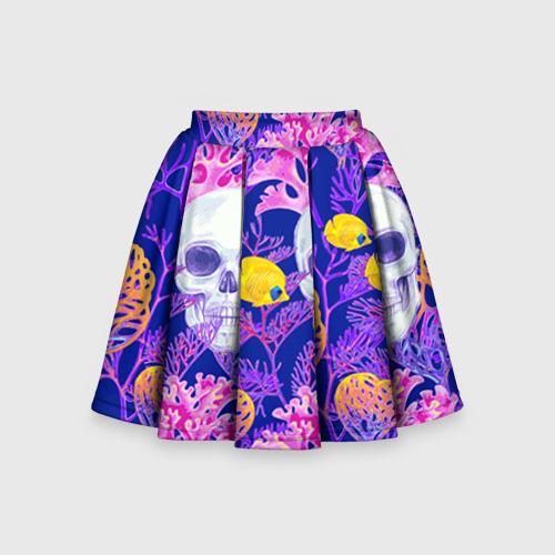 Детская юбка-солнце 3D Черепа