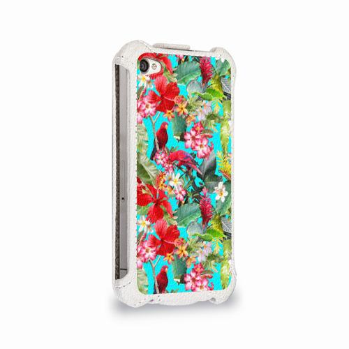 Чехол для Apple iPhone 4/4S flip  Фото 02, Тропический мир