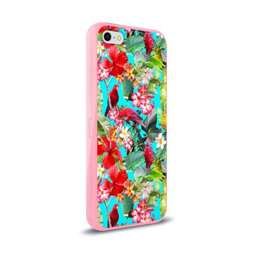 Чехол для Apple iPhone 5/5S силиконовый глянцевый Тропический мир Фото 01