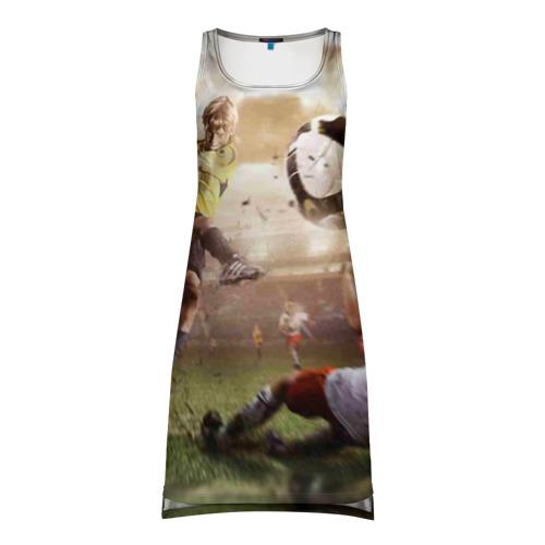 Платье-майка 3D Юные футболисты