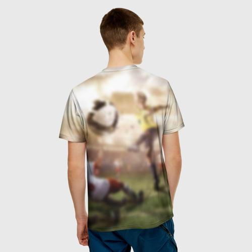 Мужская футболка 3D Юные футболисты