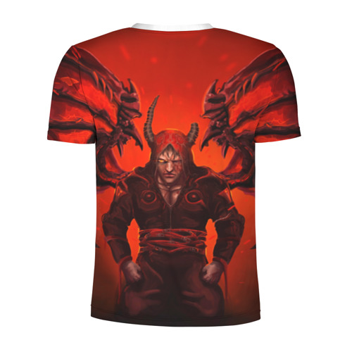 Мужская футболка 3D спортивная  Фото 02, Демон