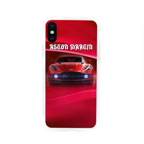 Чехол для Apple iPhone X силиконовый глянцевый  Фото 01, Aston Martin