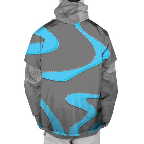 Накидка на куртку 3D  Фото 02, Кривые линии