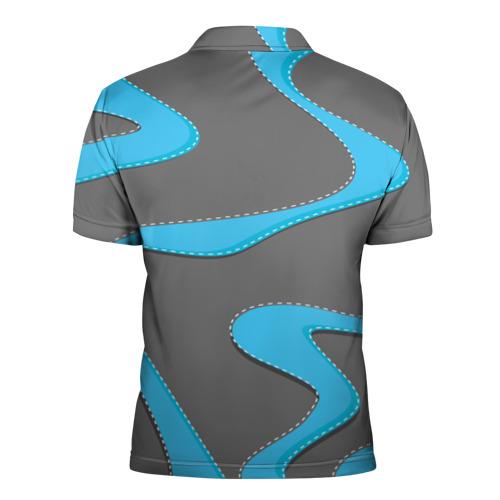 Мужская рубашка поло 3D  Фото 02, Кривые линии
