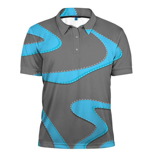 Мужская рубашка поло 3D  Фото 01, Кривые линии