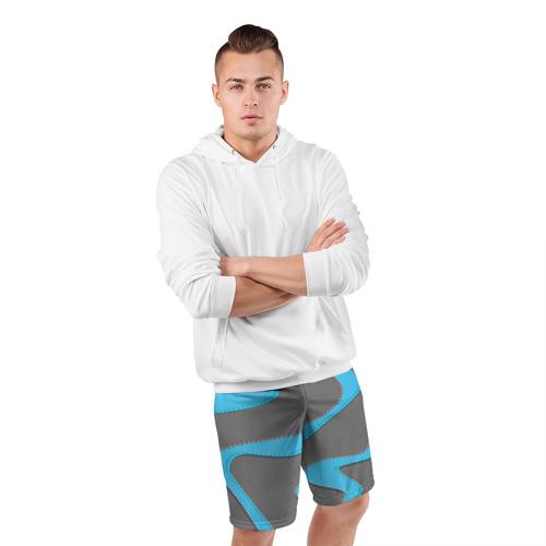 Мужские шорты 3D спортивные  Фото 05, Кривые линии