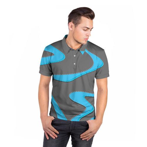 Мужская рубашка поло 3D  Фото 05, Кривые линии