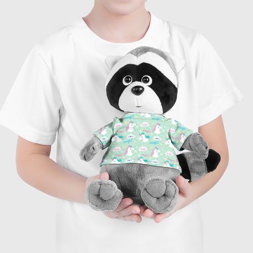Енотик в футболке 3D Единороги Фото 01