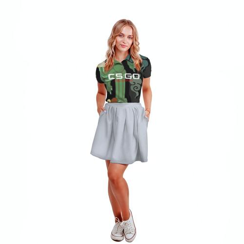 Женская рубашка поло 3D  Фото 04, cs:go - Fire Serpent (Огненный змей)