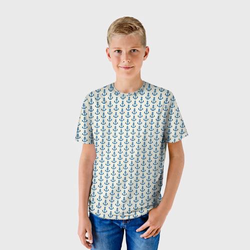 Детская футболка 3D Якоря Фото 01