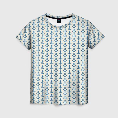 Женская футболка 3D Якоря Фото 01