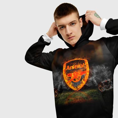 Мужская толстовка 3D  Фото 01, Arsenal FC. Gunners