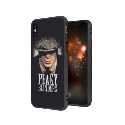 Чехол для Apple iPhone X силиконовый матовый Peaky Blinders 5 Фото 01