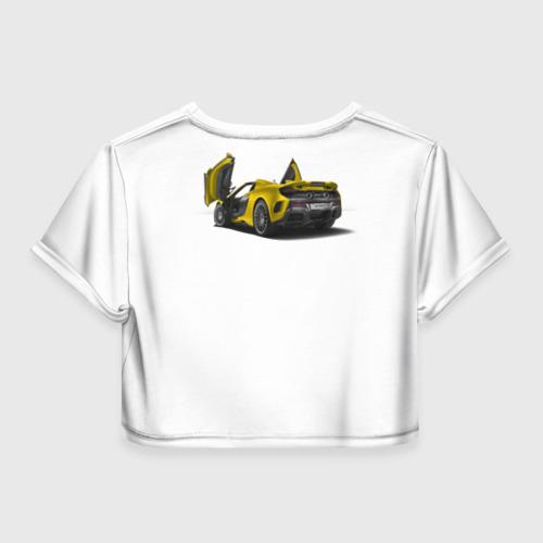 Женская футболка 3D укороченная  Фото 02, Автомобиль - не роскошь.