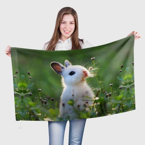 Флаг 3D Кролик One фото