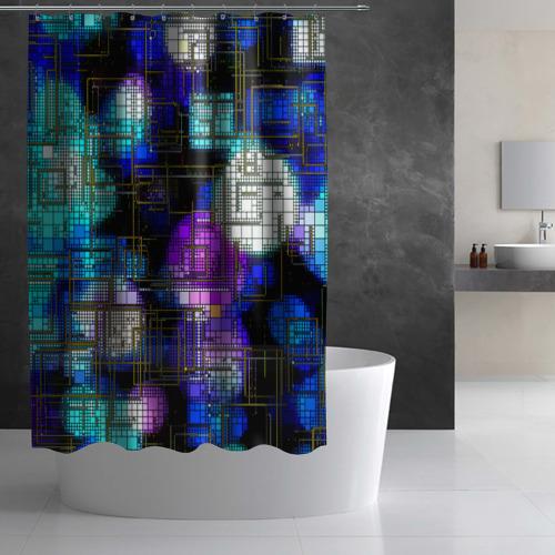 Штора 3D для ванной  Фото 03, Плата