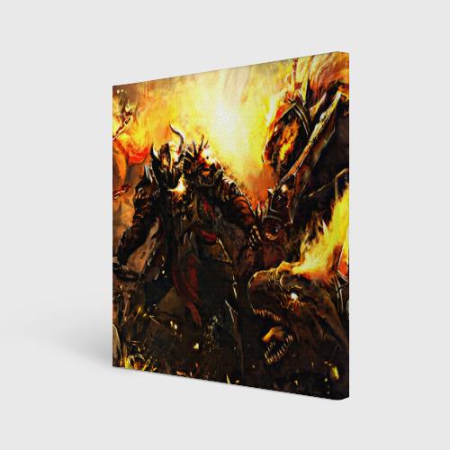 Холст квадратный  Фото 01, Dragon War