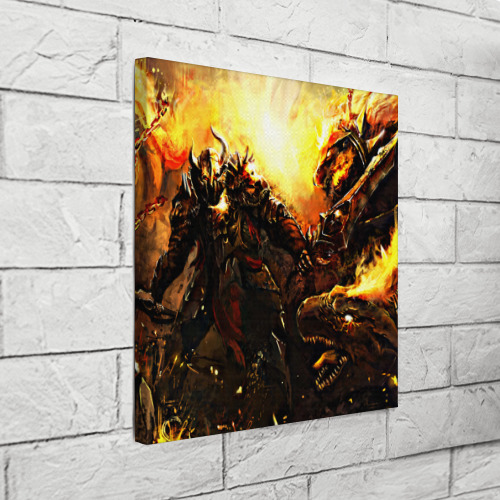 Холст квадратный  Фото 03, Dragon War