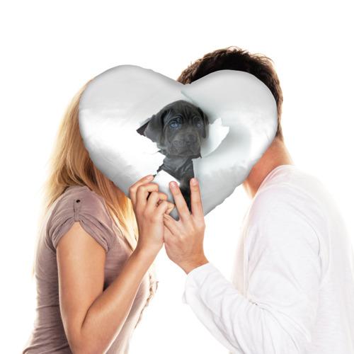 Подушка 3D сердце  Фото 03, щенок Кане Корсо