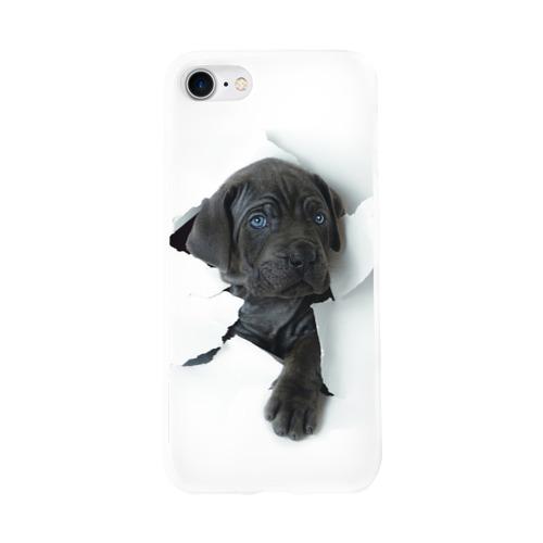 Чехол для Apple iPhone 8 силиконовый глянцевый  Фото 01, щенок Кане Корсо