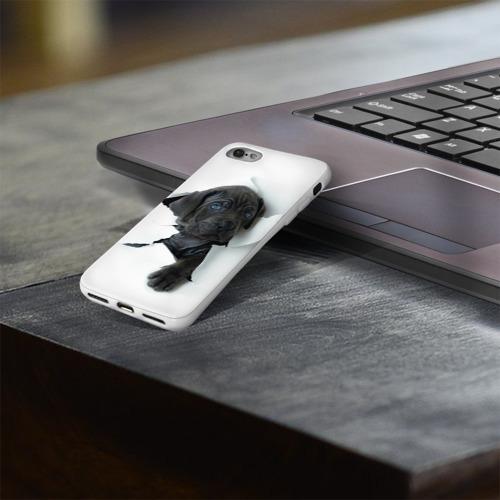 Чехол для Apple iPhone 8 силиконовый глянцевый  Фото 03, щенок Кане Корсо
