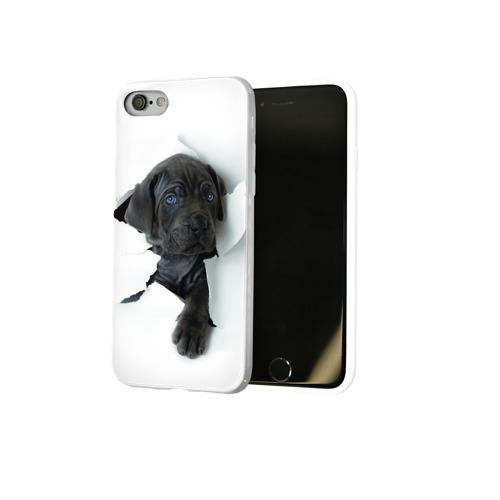 Чехол для Apple iPhone 8 силиконовый глянцевый  Фото 02, щенок Кане Корсо