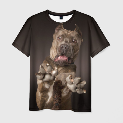 Мужская футболка 3D Кане корсо