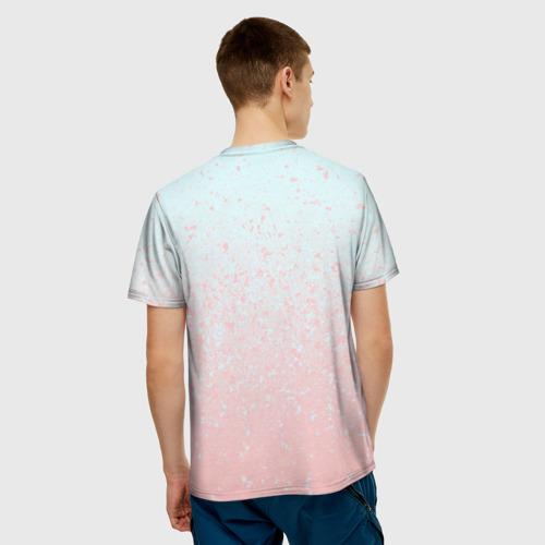 Мужская футболка 3D  Фото 02, Pink Blue Gradient