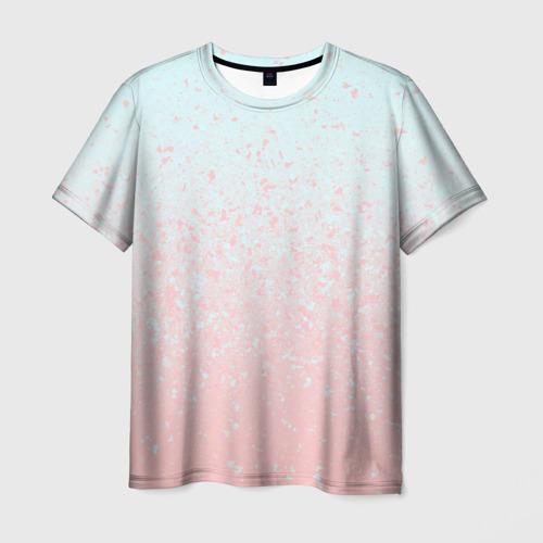 Мужская футболка 3D  Фото 03, Pink Blue Gradient