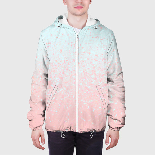 Мужская куртка 3D  Фото 04, Pink Blue Gradient