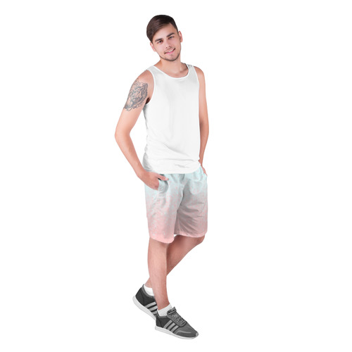 Мужские шорты 3D  Фото 03, Pink Blue Gradient