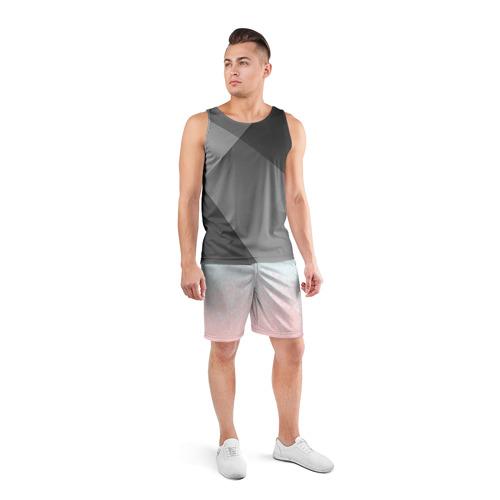 Мужские шорты 3D спортивные  Фото 04, Pink Blue Gradient