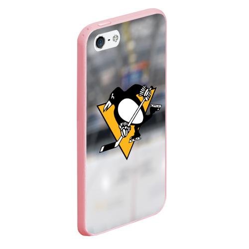 Чехол для iPhone 5/5S матовый Pittsburg Penguins Фото 01