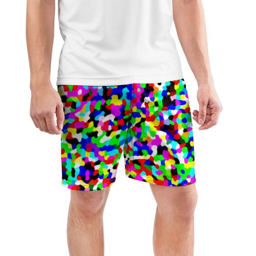 Мужские шорты 3D спортивные  Фото 03, Цветной шум