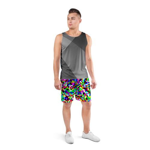 Мужские шорты 3D спортивные  Фото 04, Цветной шум